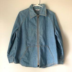 Vintage 70's Levis Orange Denim Preppy Jacket